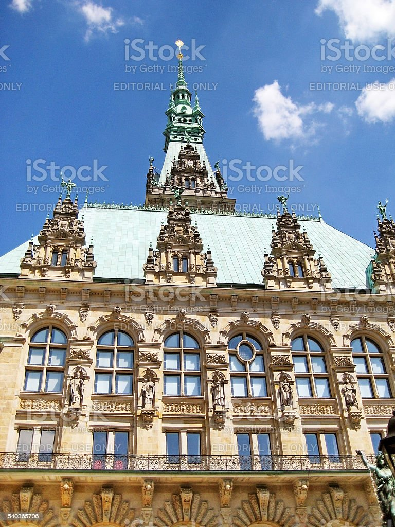 Hamburg townhall, Germany stock photo