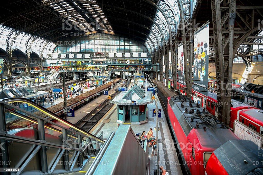 Hamburg Train Station royalty-free stock photo