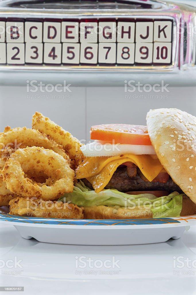 Hamburger at the hop royalty-free stock photo