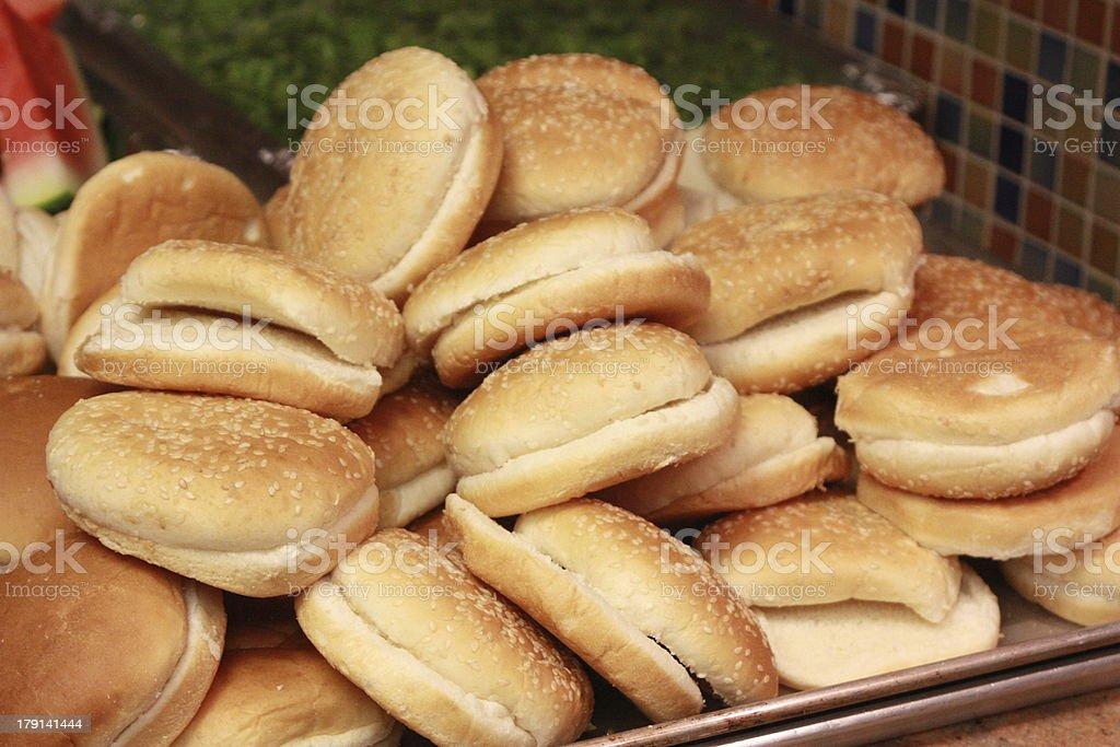 Hamburger Buns royalty-free stock photo