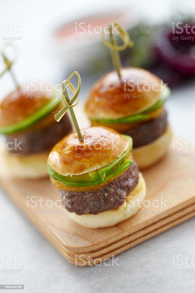 Hamburger canapes stock photo
