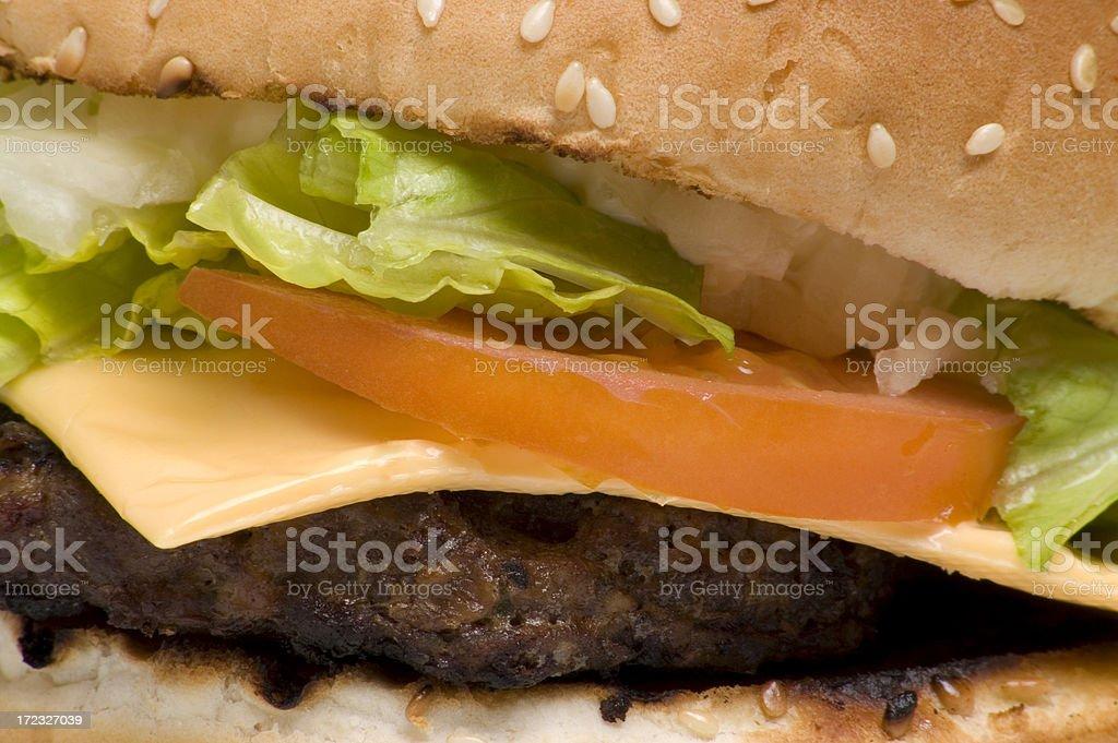Hamburger closeup royalty-free stock photo