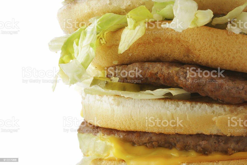 Hamburger close-up royalty-free stock photo