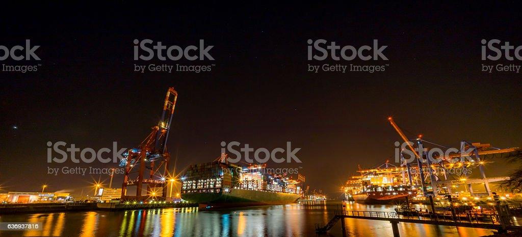 Hamburger Container Terminal stock photo
