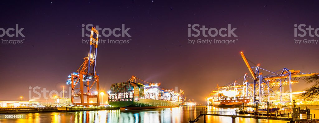 Hamburger Container Terminal stock photo