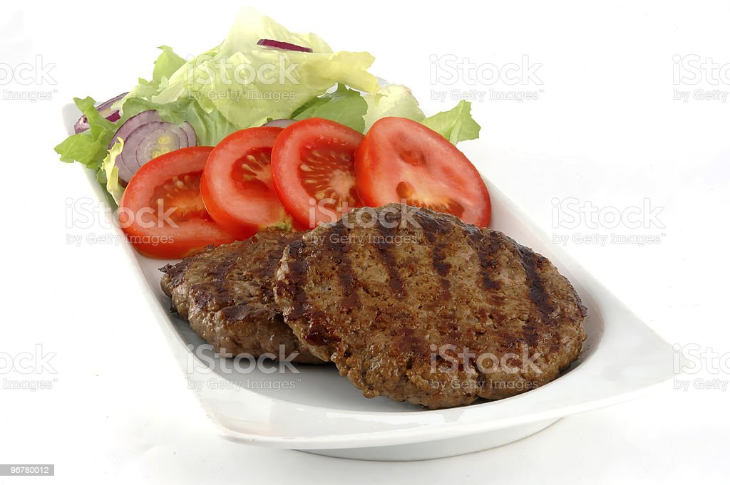 Hamburger dish royalty-free stock photo