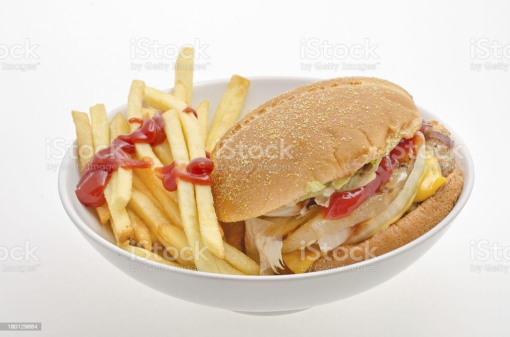 Hamburger fast food royalty-free stock photo