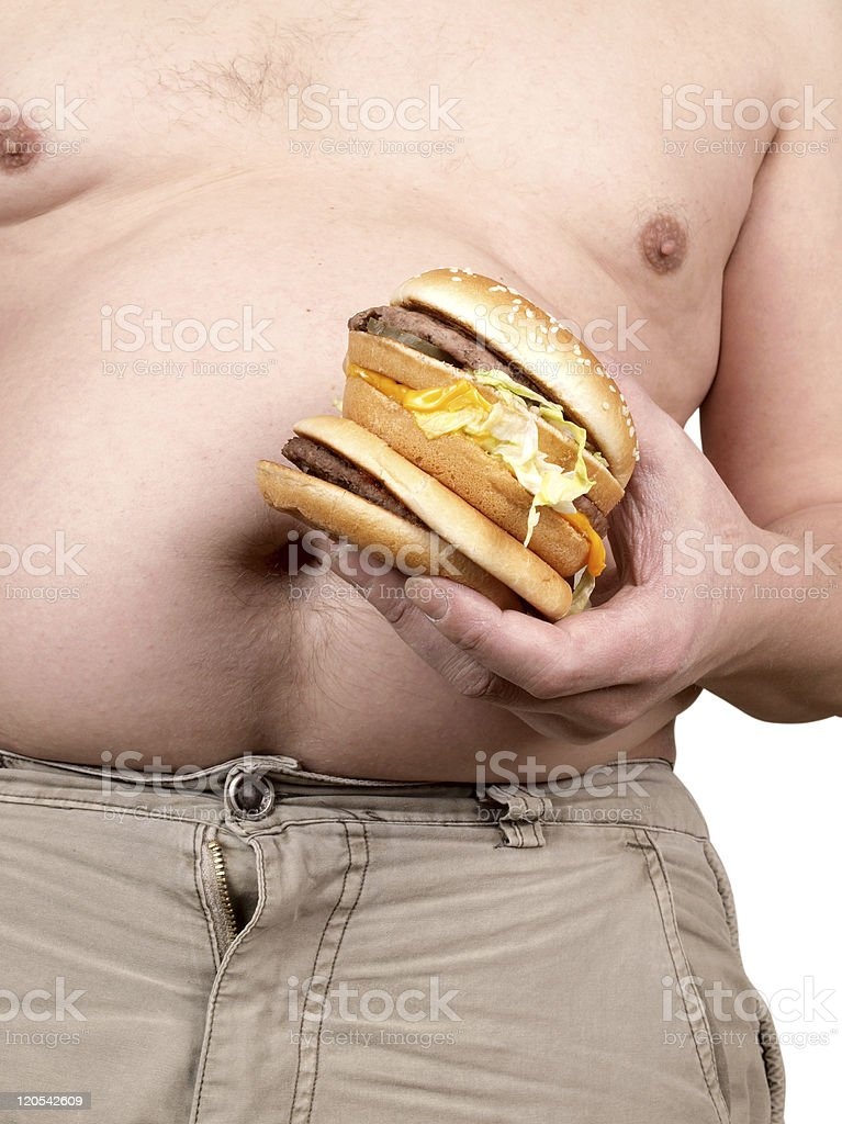 Hamburger in hand royalty-free stock photo