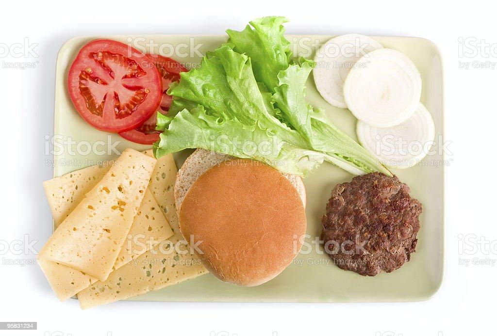 hamburger ingregients royalty-free stock photo