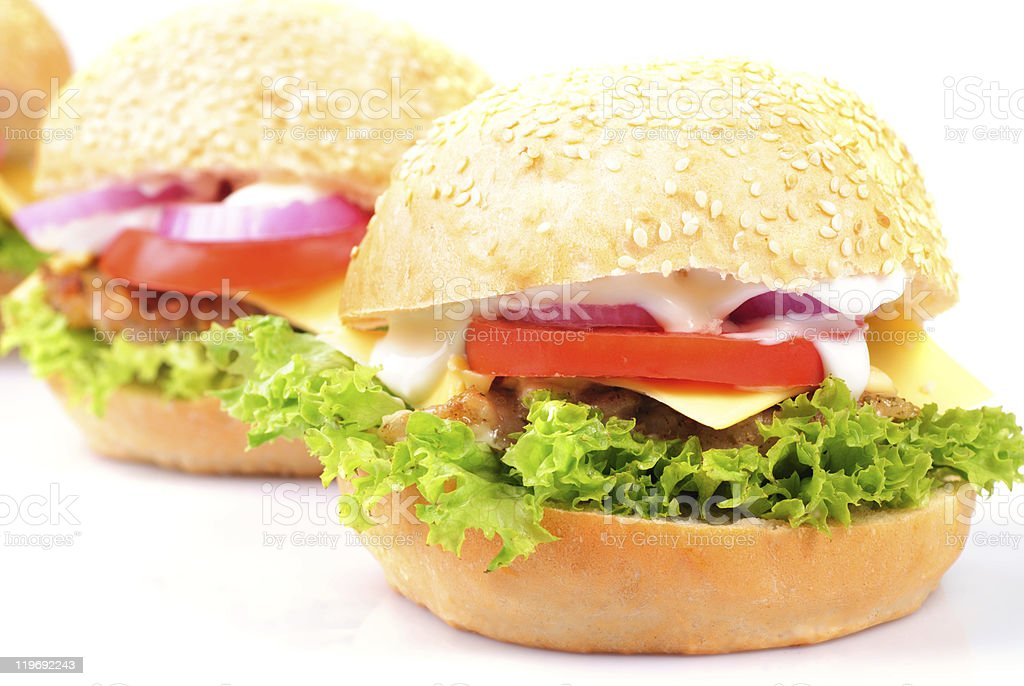 hamburger isolated royalty-free stock photo