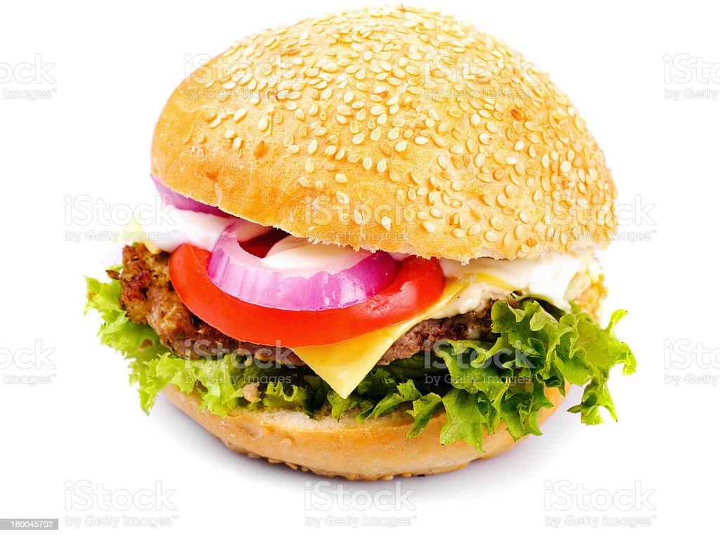 hamburger isolated royalty-free stock photo