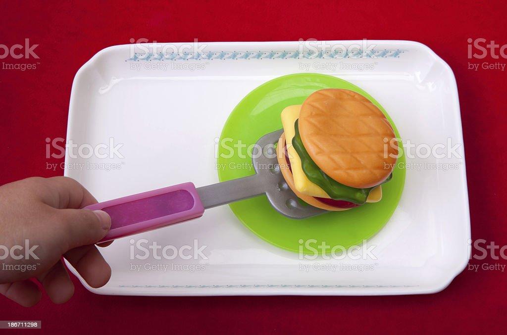 hamburger, made from sugar royalty-free stock photo