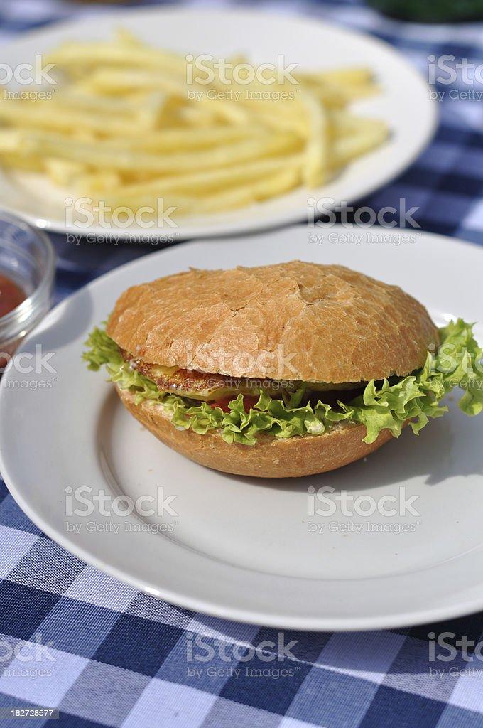 Hamburger meal royalty-free stock photo