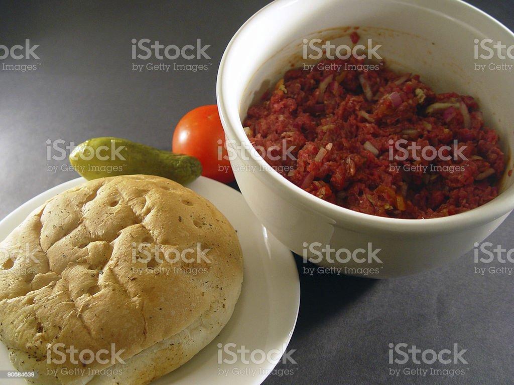 Hamburger mix royalty-free stock photo