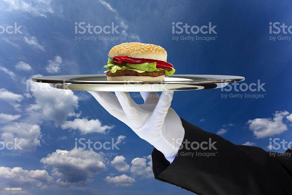 Hamburger on sky royalty-free stock photo