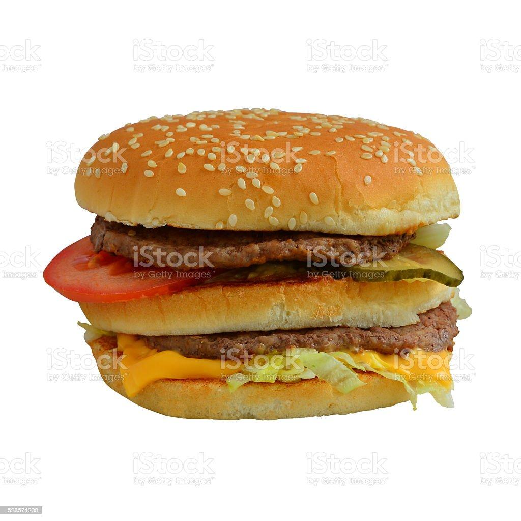 Hamburger on white background stock photo