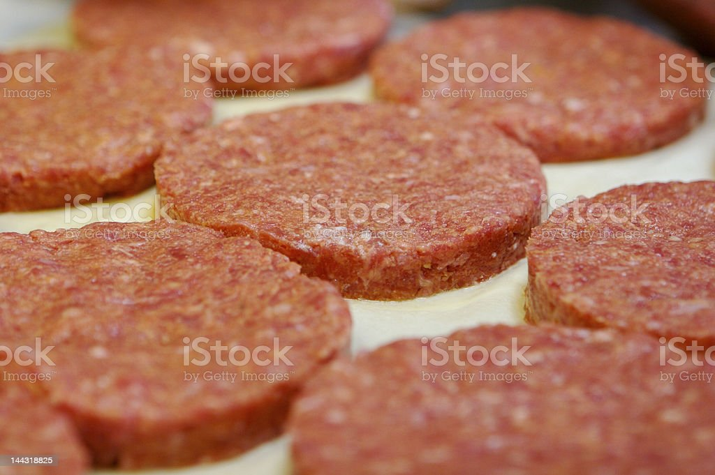 Hamburger patty stock photo