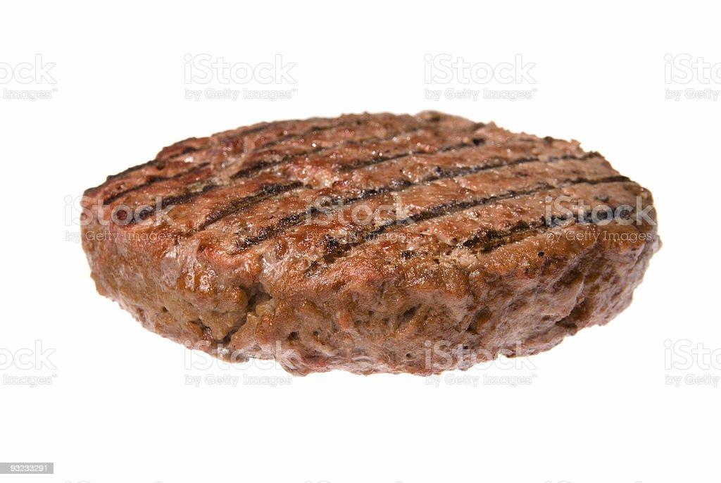 Hamburger patty stock photo