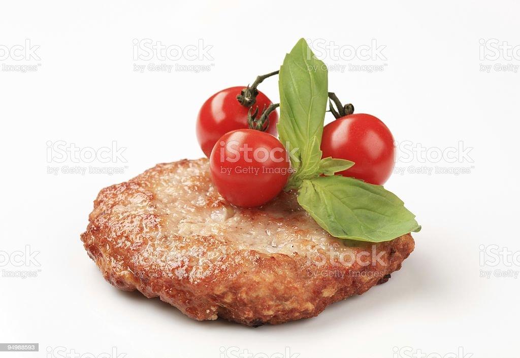 Гамбургер patty Стоковые фото Стоковая фотография