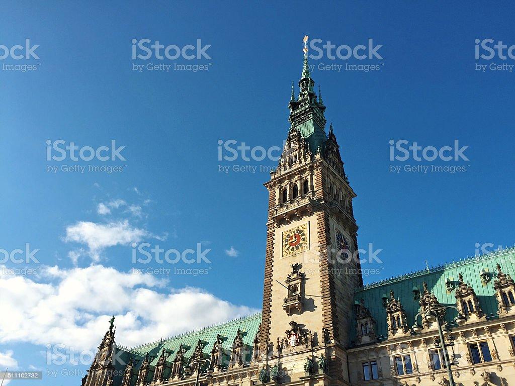 Hamburger Rathaus - Mobilestock image stock photo
