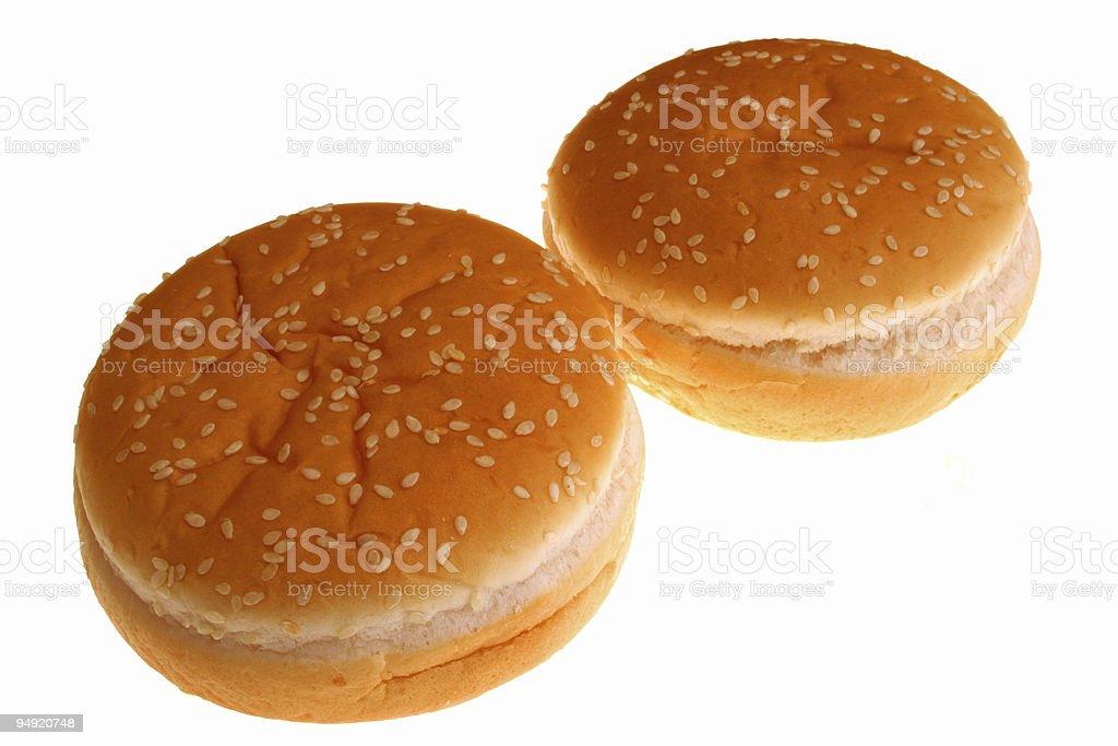hamburger rolls royalty-free stock photo