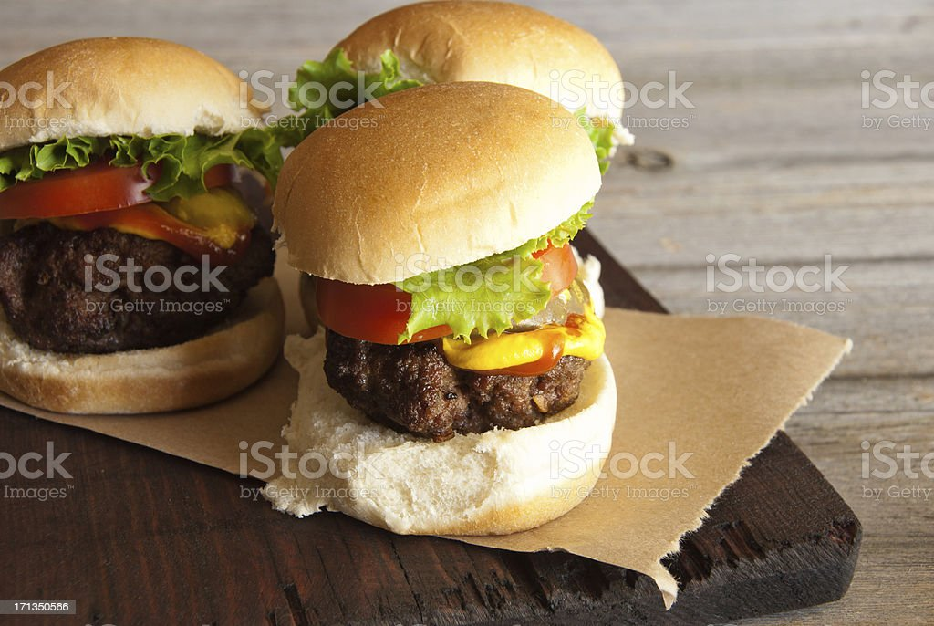 Hamburger Sliders on Left royalty-free stock photo