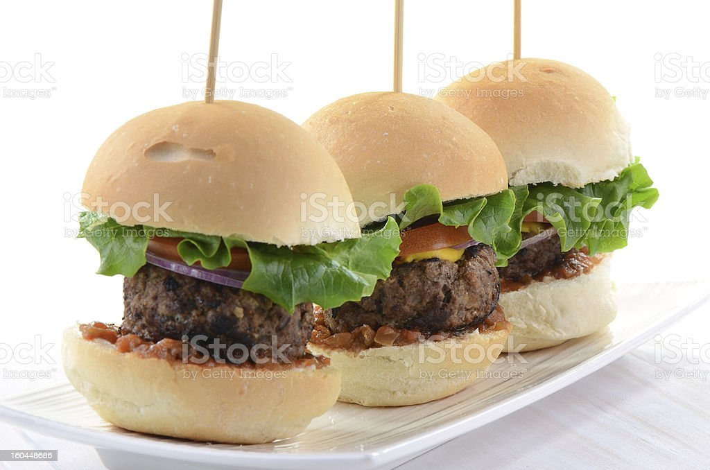 Hamburger sliders stock photo