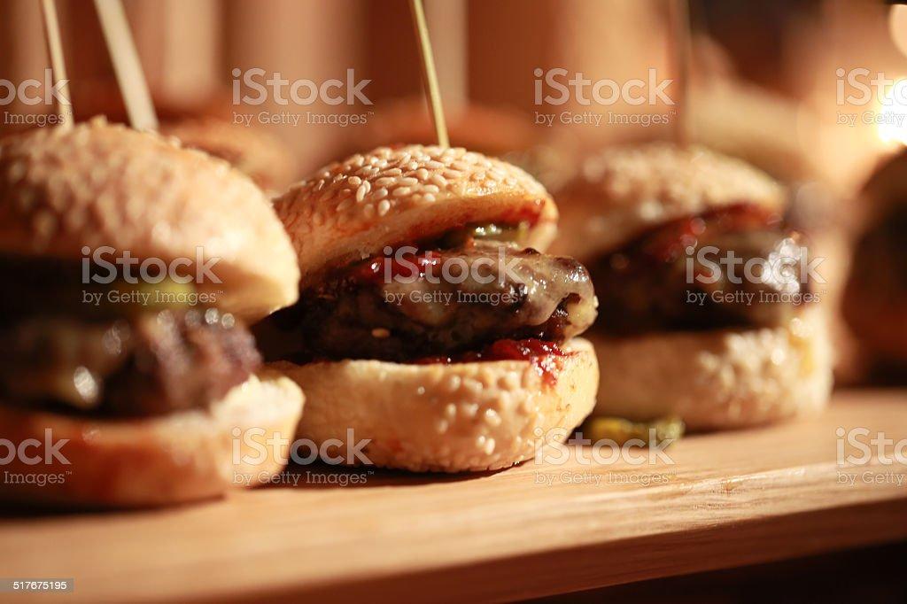 Hamburger sliders stock photo