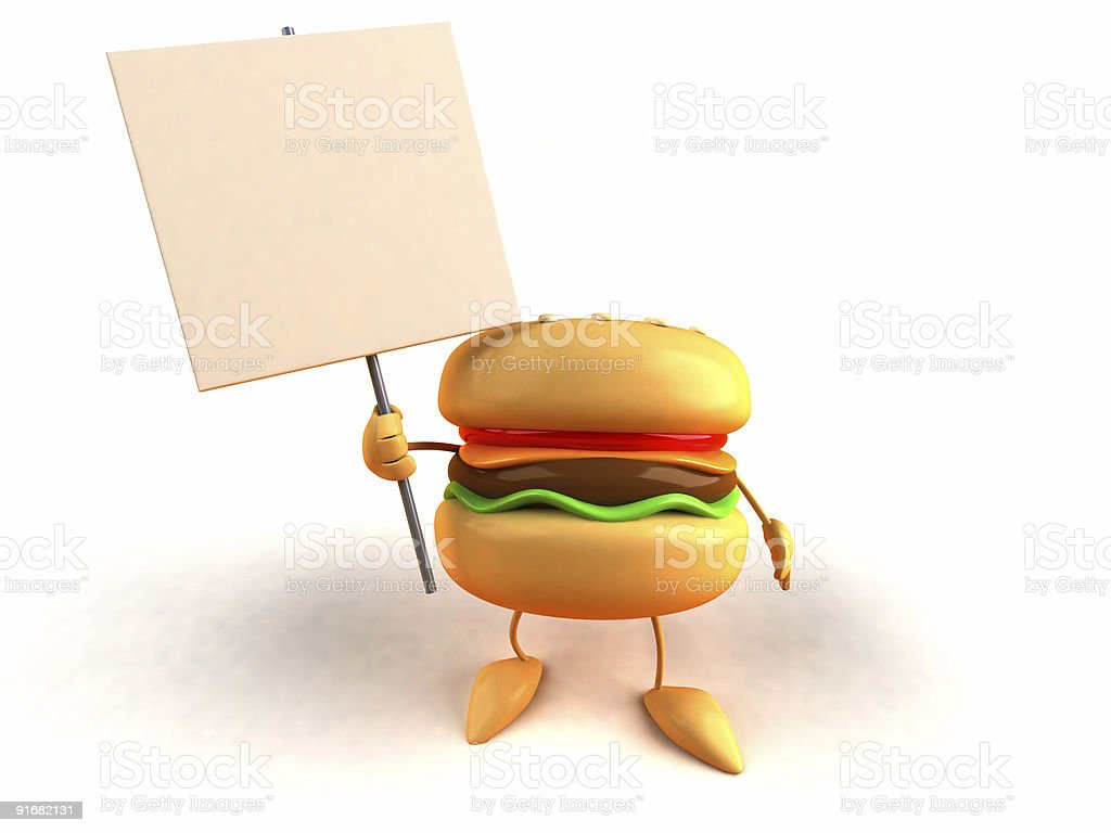 Hamburger with a message royalty-free stock photo