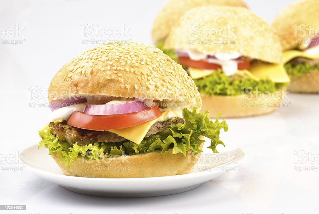 hamburgers isolated royalty-free stock photo