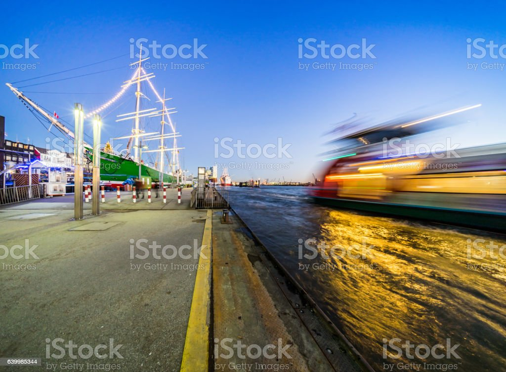 Hamburgs Landungsbrücken stock photo