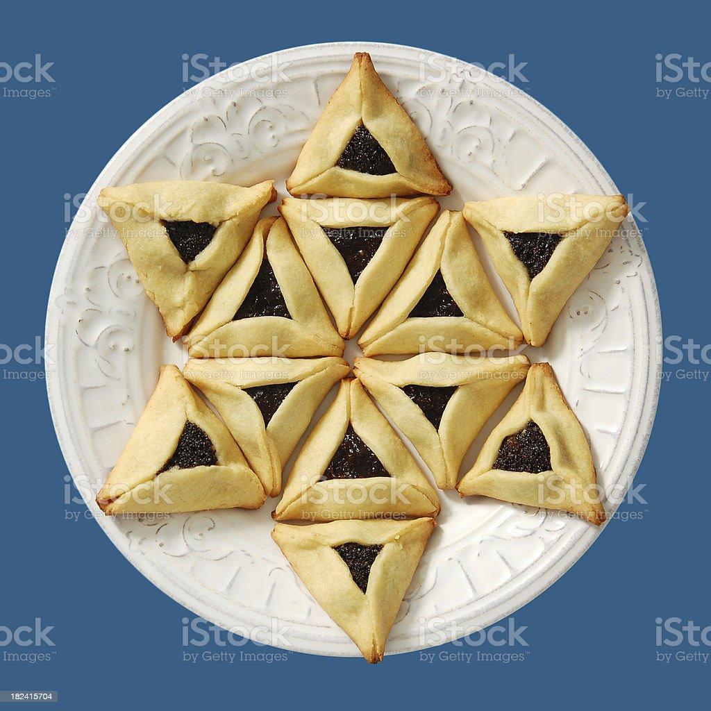 Hamentaschen Star of David stock photo