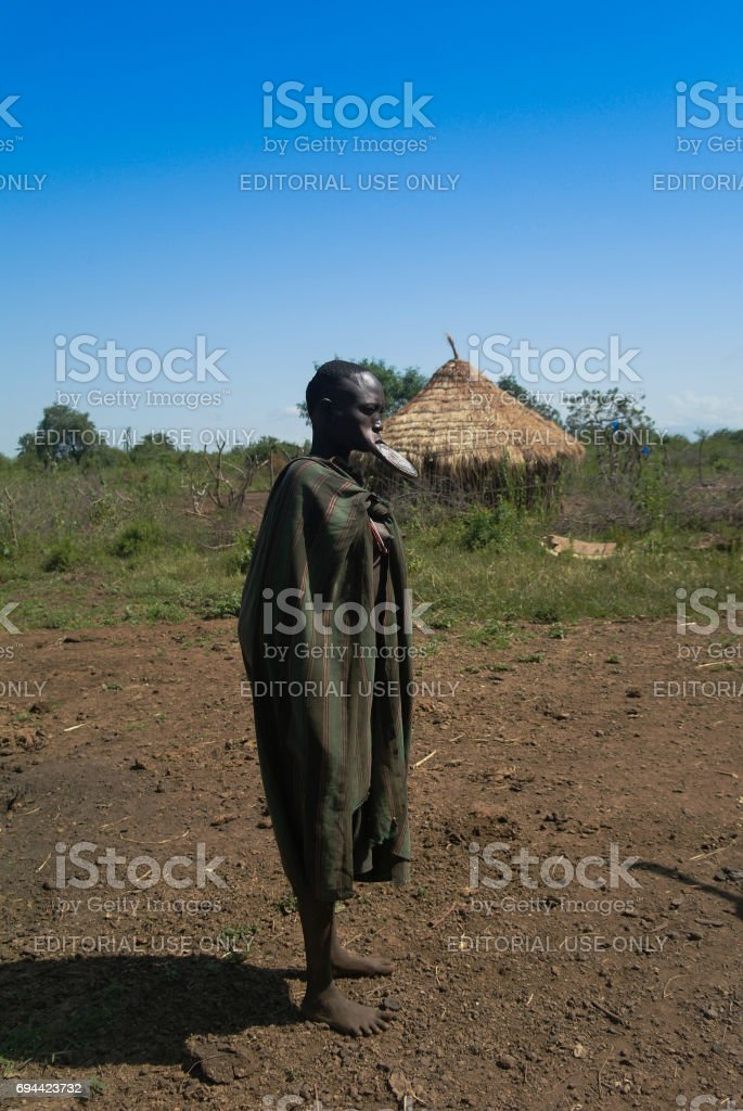 Hamer tribe woman - 05 october 2012 , Omo valley, Ethiopia stock photo