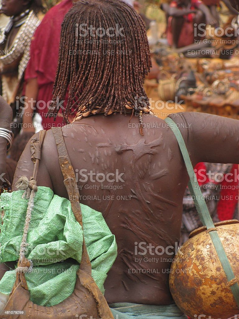Hamer tribe woman stock photo
