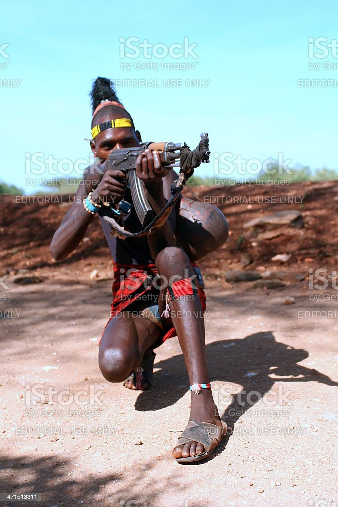 Hamer tribesman, Omo River, Ethiopia royalty-free stock photo