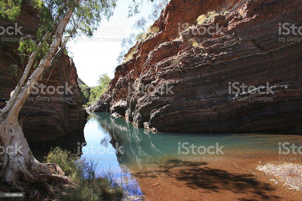 Hamersley Gorge, Karijini National Park, North Western Australia royalty-free stock photo