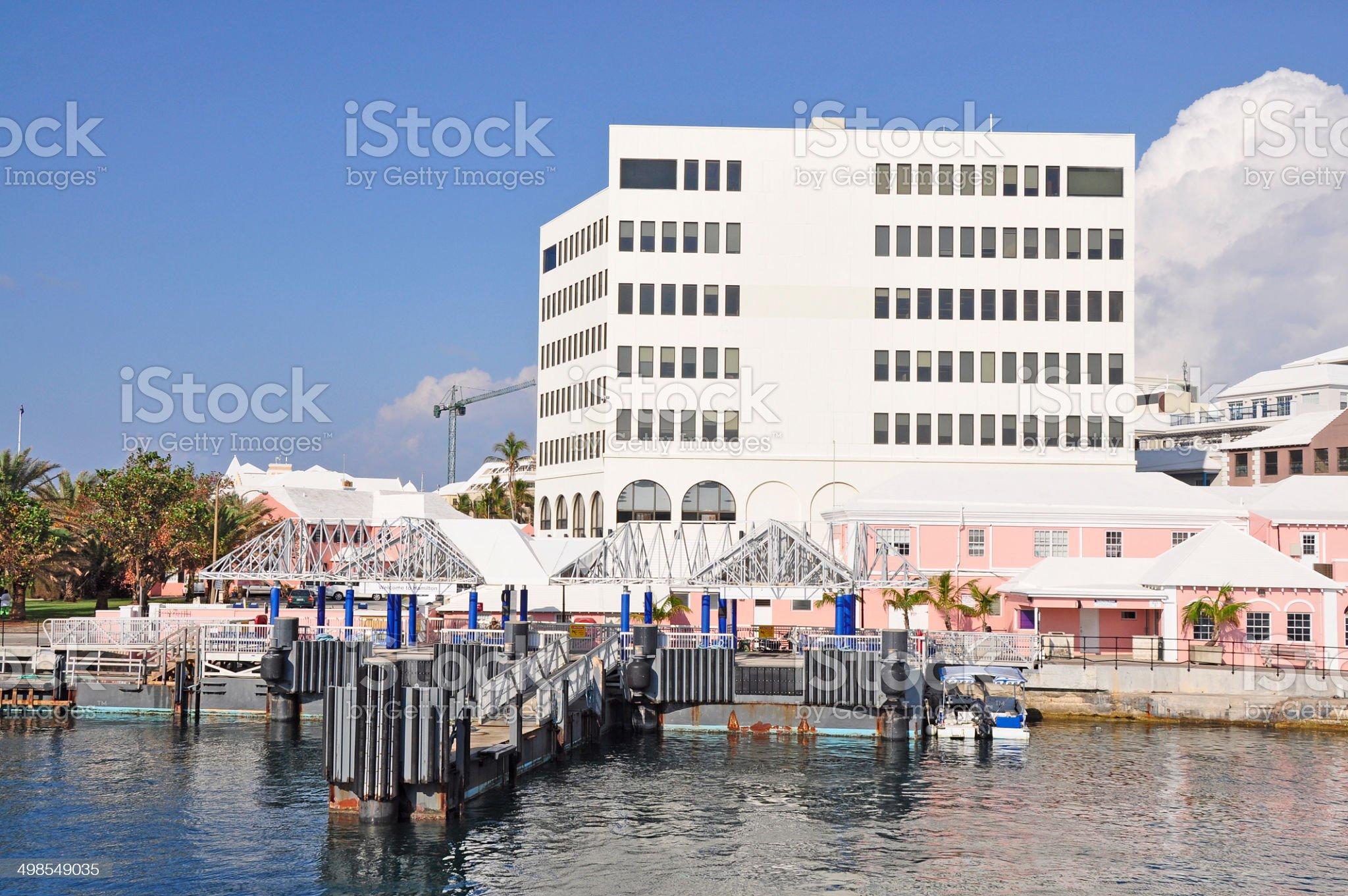 Hamilton, Bermuda, Ferry Dock royalty-free stock photo