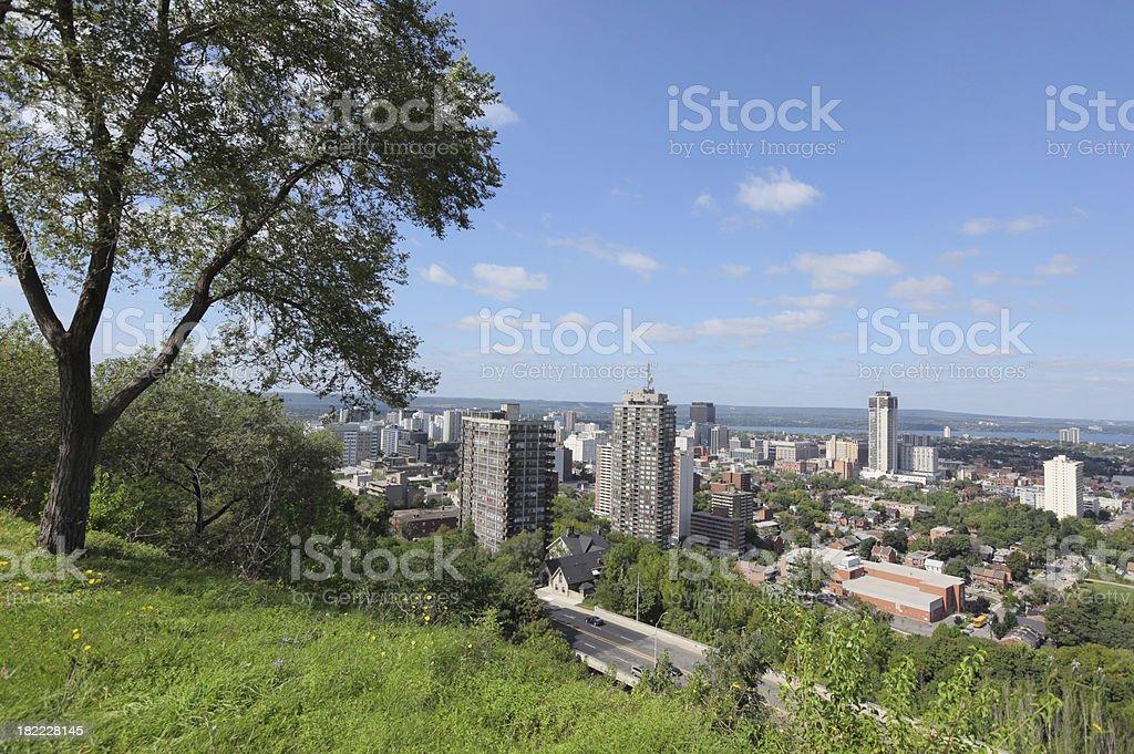 Hamilton City Mountain View in Ontario royalty-free stock photo