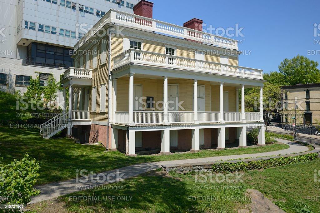 Hamilton Grange in St. Nicholas Park in New York stock photo