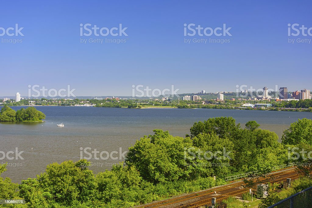 Hamilton Harbour Ontario Canada stock photo