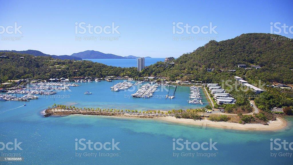 Hamilton Island Aerial stock photo
