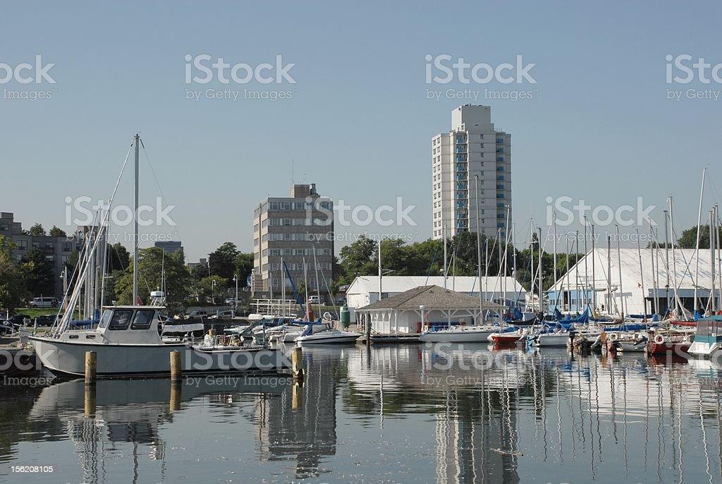 Hamilton Recreational Harbor royalty-free stock photo