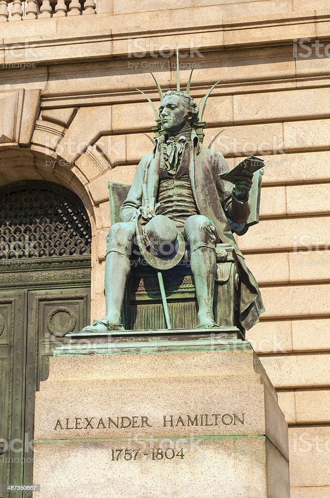 Hamilton statue stock photo
