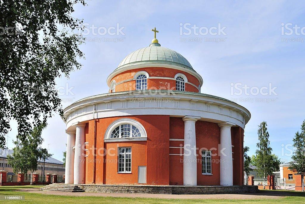 Hamina. Finland.  Round Church royalty-free stock photo