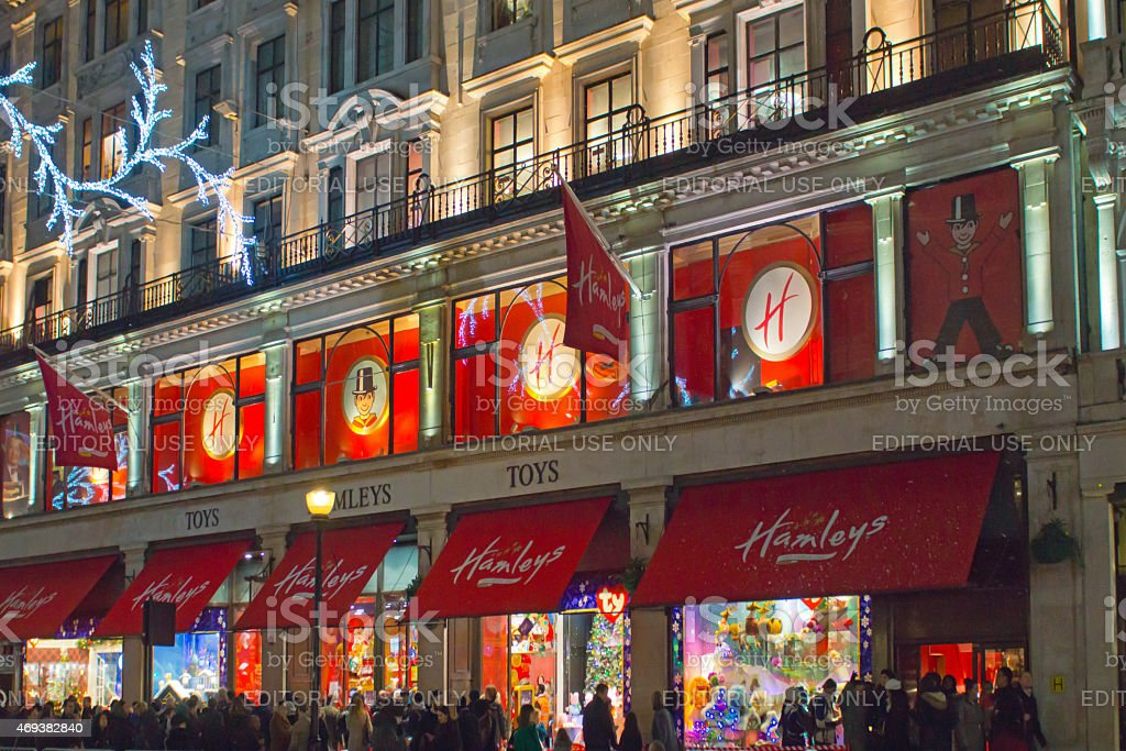 Hamleys at Christmas stock photo