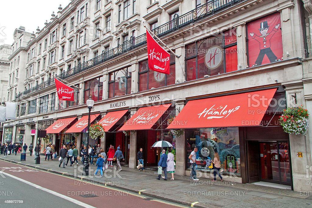 Hamleys big store in London royalty-free stock photo