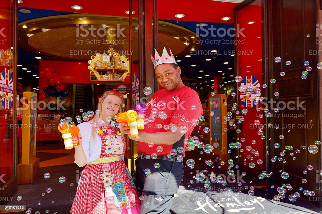 Hamleys toy store in London England UK stock photo