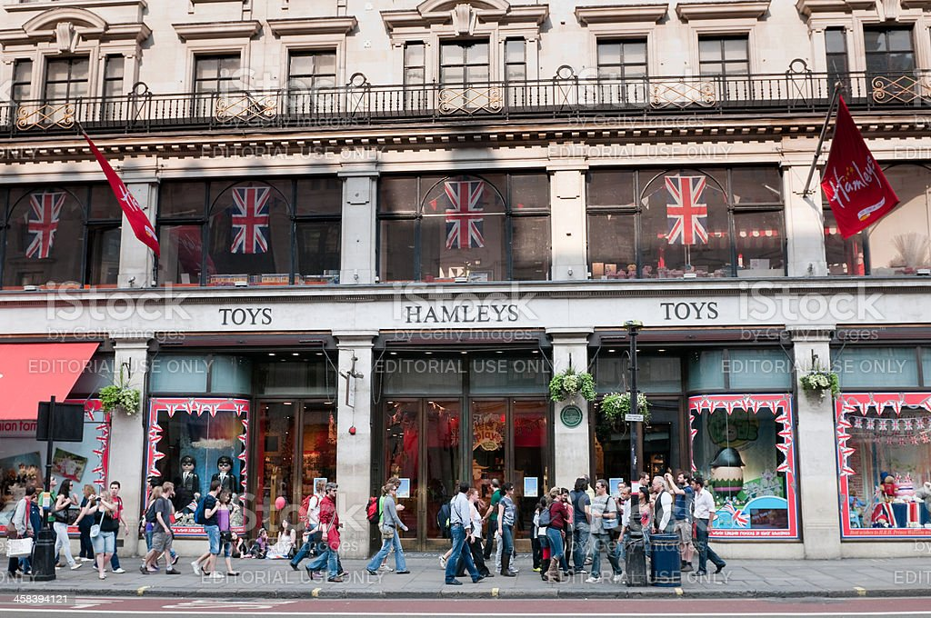 Hamleys Toy store in Regent Street, London royalty-free stock photo
