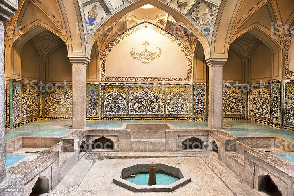 Hammam-e Ali Gholi Agha historic bath, Esfahan,  Iran stock photo