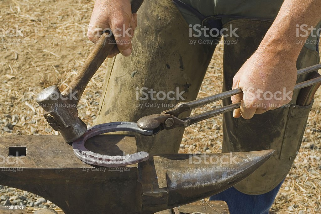 Hammer and Anvil royalty-free stock photo